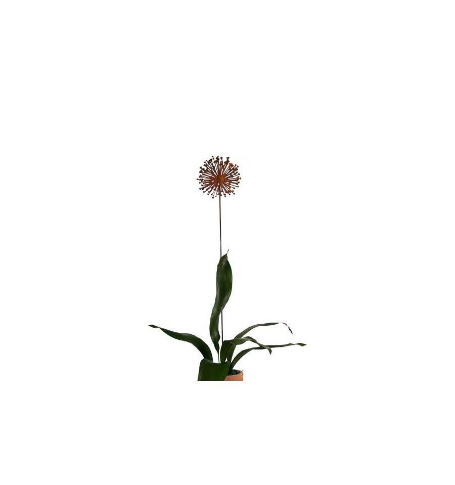 Edelrost Blumenstecker Allium 20 cm Durchmesser (flach) Garten-Deko