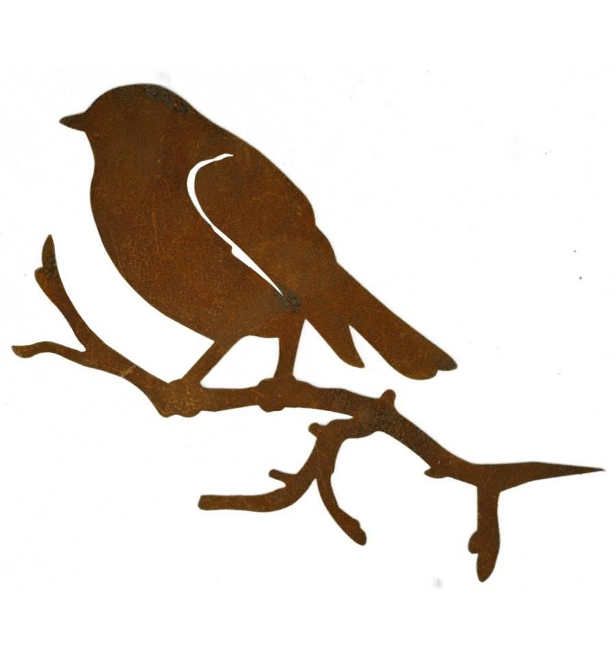 metall deko vogel meise rostig zum einstecken in holz als. Black Bedroom Furniture Sets. Home Design Ideas