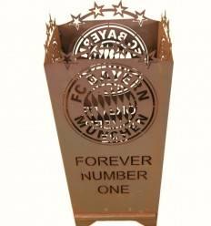 "FC Bayern Feuerkorb ""Forever Number One"", Höhe 83 cm Breite 40x40 cm"