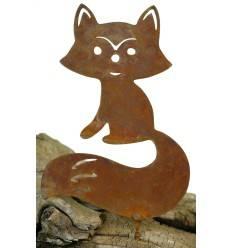 Metallsatz Fuchs als Baumstecker, zum Einschrauben in Holz, Höhe 16 cm