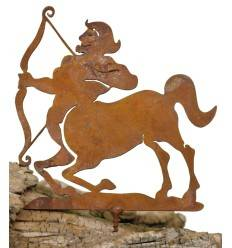 Metallsatz Sternzeichen 'Schütze' als Baumstecker, zum Einschrauben in Holz, Höhe 12 cm