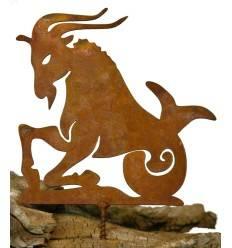 Metallsatz Sternzeichen 'Steinbock' als Baumstecker, zum Einschrauben in Holz, Höhe 12 cm