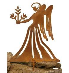 Metallsatz Sternzeichen 'Jungfrau' als Baumstecker, zum Einschrauben in Holz, Höhe 12 cm