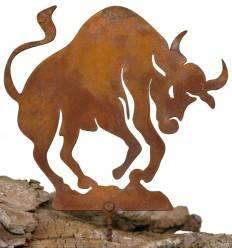Metallsatz Sternzeichen 'Stier' als Baumstecker, zum Einschrauben in Holz, Höhe 12 cm