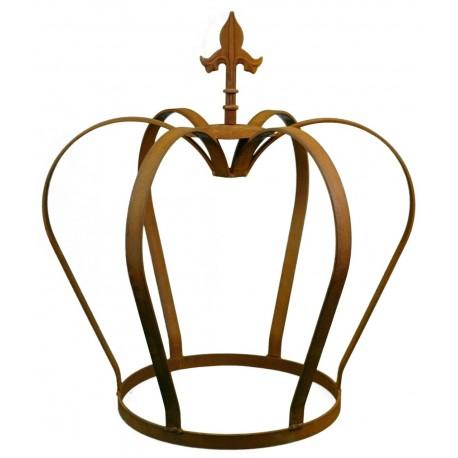 Edelrost Krone mit Lilienspitze Höhe 52 cm - königliche Deko für den Garten von Metallmichl aus rostigem Metall