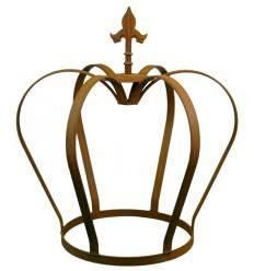 Edelrost Krone mit Lilienspitze Höhe 65 cm - königliche Deko für den Garten von Metallmichl aus rostigem Metall