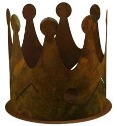 Edelrost Krone zum Bepflanzen Ø 15 cm  - königliche Deko die Fensterbank