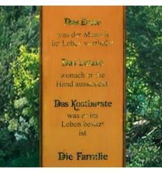 Gartenstecker Familie Höhe 190cm Breite 43cm Tafelhöhe 90cm 2 teilig