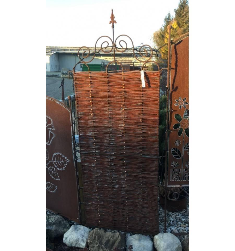 Gartendeko Aus Weidengeflecht, paravent aus weide geflochten, 'otti', höhe 145 cm, breite 72 cm, Design ideen