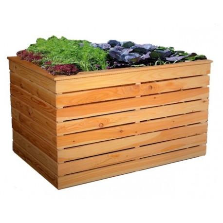 Hochbeet aus Lärchenholz, ohne Boden, 100x70x72 cm Holz Frühbeet Pflanzkasten Gemüsebeet Anzuchtbeet