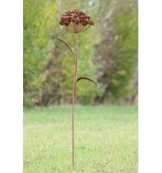 Rostblume Belle als Gartenstecker Höhe 103 cm