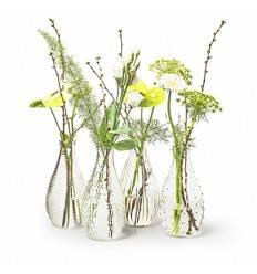 Glas Deko Vase Decor 4-fach sortiert, Höhe 24 cm