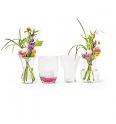 Eco Vase mix 4-telig Höhe 18 cm