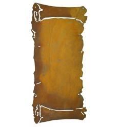 Schriftrolle flach rost 30 x 62 cm