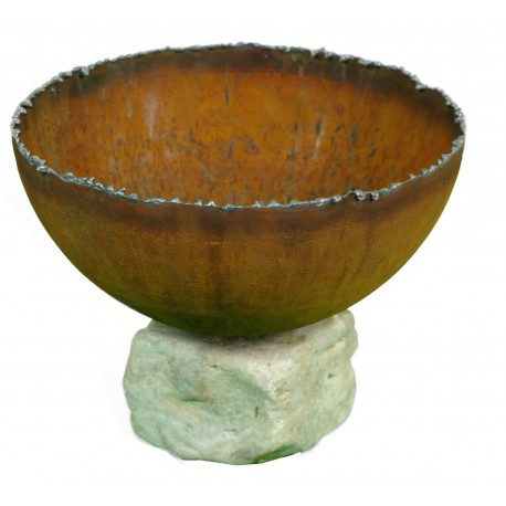 Halbschale 25 cm mit Stein
