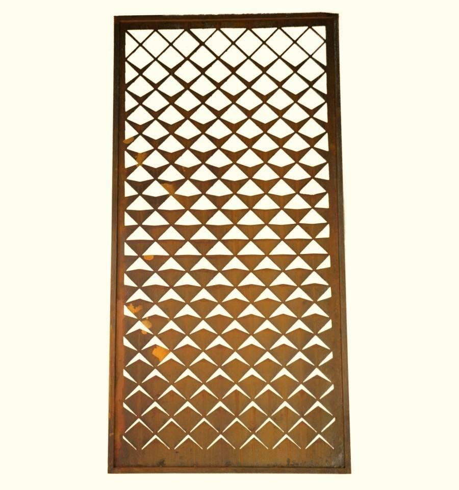 edelrost paravent geometrisch raumteiler sichtschutzw nde. Black Bedroom Furniture Sets. Home Design Ideas