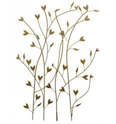 """Rankhilfe """"Herzblatt"""" mit Blätter in Herzform, groß, 80cm x 120cm"""