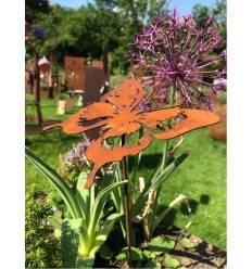 filigraner Schmetterling 12 x 12 cm als Stecker mit kurzem Stab