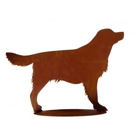 Garten Tier L50cm Rost,Metall Hund Edelrost,Garten Figuren Hund,Garten Hund