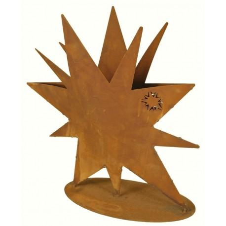 Rostiger stern zum bepflanzen oder als vase f r for Gartendeko zum bepflanzen