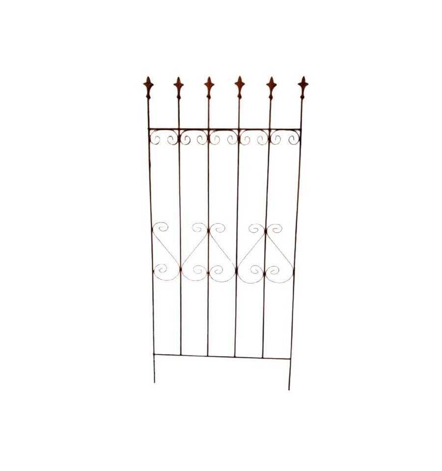 edelrost rankgitter 76 x 185 cm - metallmichl