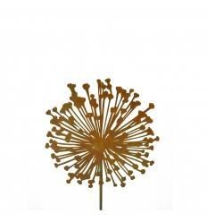 Edelrost Blumenstecker Allium 20 cm Durchmesser (flach) Gesamthöhe: 110 cm
