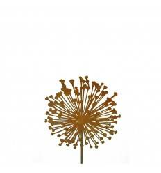 Edelrost Blumenstecker Allium 15cm Durchmesser (flach) Gesamthöhe: 95 cm Dekoidee und Geschenk