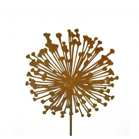 Blumenstecker Allium Gartendeko rostig Metall Roststecker Rostblume Pusteblume