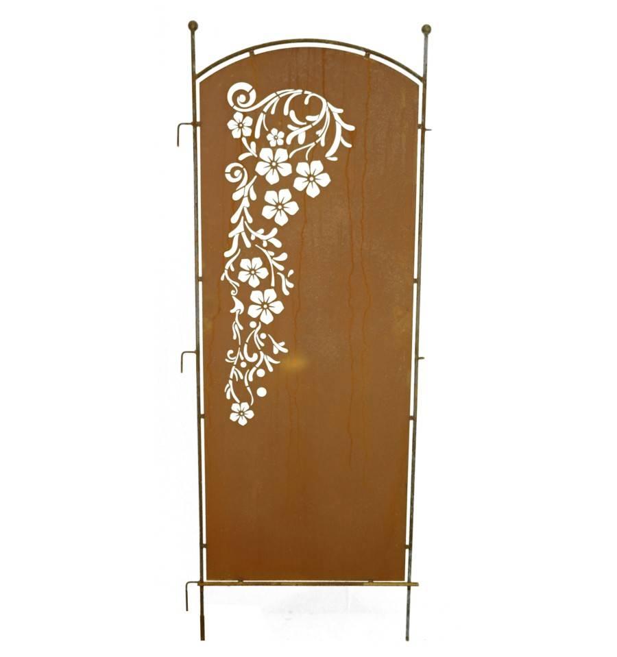 edelrost bl tenrausch paravent als sichtschutz aus metall kaufen. Black Bedroom Furniture Sets. Home Design Ideas