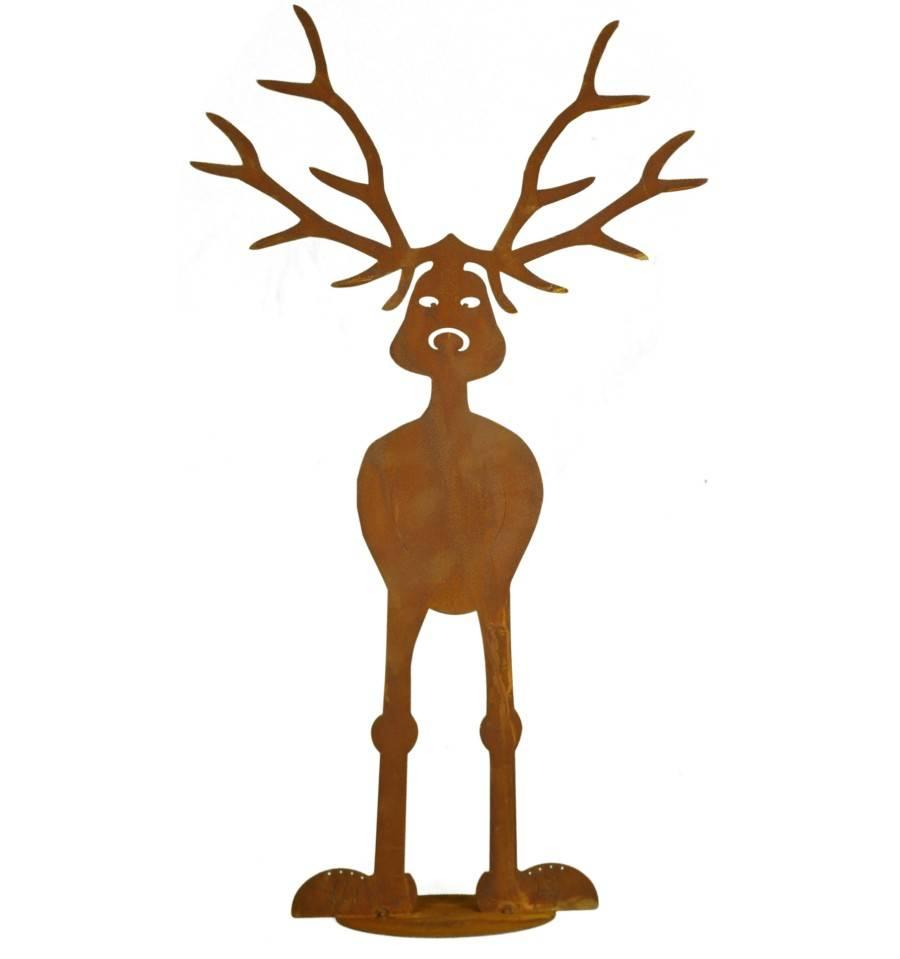 edelrost rentier rudi auf platte weihnachtsdeko jetzt online kaufen. Black Bedroom Furniture Sets. Home Design Ideas