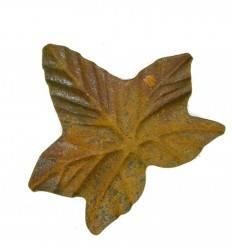 Edelrost Efeublatt aus Gusseisen Breite 15 cm Länge 12,5 cm