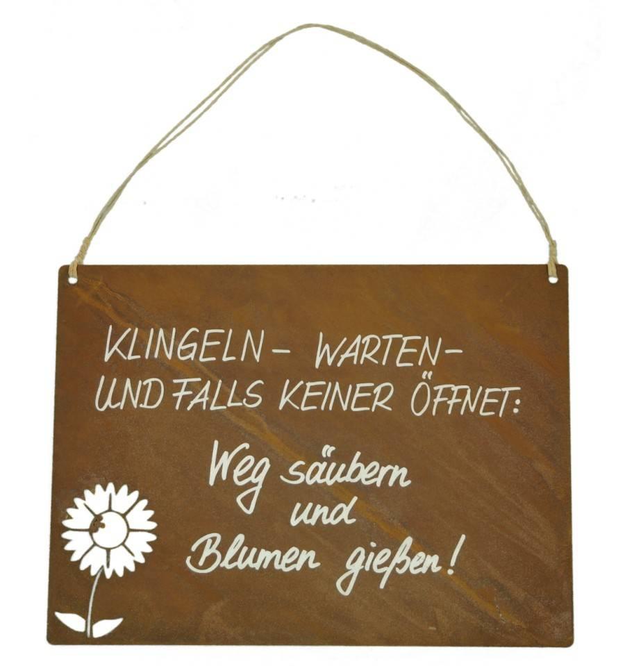 Weihnachtsdeko Klingel.Tafel Blume Inkl Beschriftung