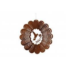 Edelrost Windspiel mit Kolibri Höhe 22 cm