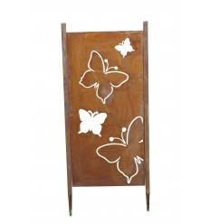 Edelrost Paravent Sichtschutz Wand Schmetterling als Set  rostig Rost Gartendeko