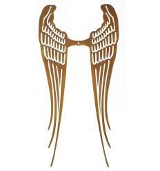 Edelrost Engel Flügel offen - Höhe 70 cm - zum Holzengel basteln, Anna Amelie