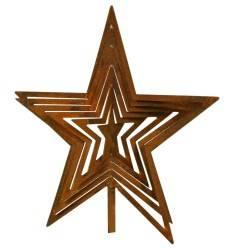 Edelrost Stern Lara zum Stecken und Aufdrehen groß Höhe 22 cm