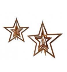 Windspiel Stern zum Aufdrehen aus Edelrost groß Ø 22 cm