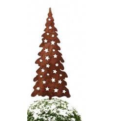 Weihnachtsbaum mit Sternen Jul auf Platte Höhe 80 cm