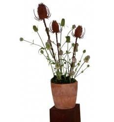 Gartenstecker Distel 80 cm hoch + 10 cm Stecker - groß