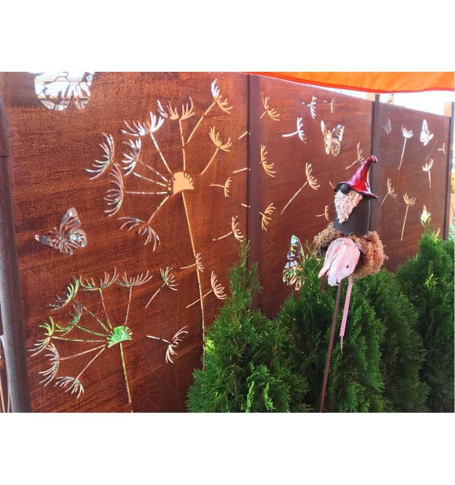 Edelrost Paravent Wand Set Pusteblume Als Sichtschutz Online Kaufen