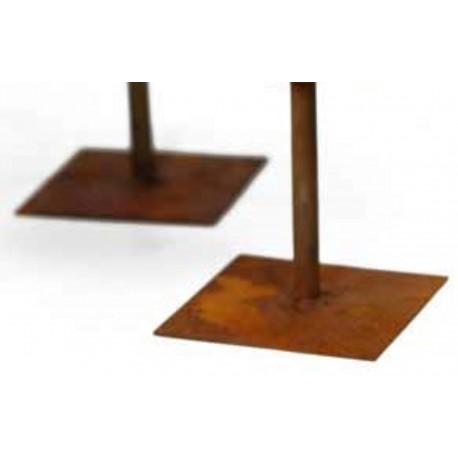 eckige Metallplatte mit Rohr als Standplatte DIY Bastelidee Metall