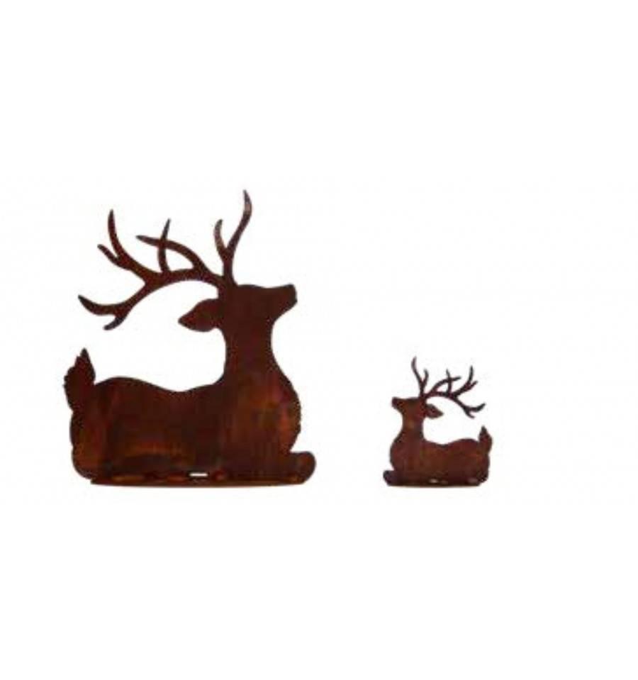 metall deko hirsch aus edelrost online kaufen. Black Bedroom Furniture Sets. Home Design Ideas