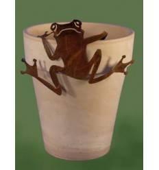 Deko Frosch aus Metall rostig Saremo