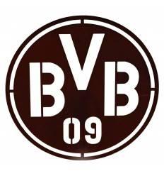 Edelrost Fußball BVB Logo zum Hängen Ø 40 cm