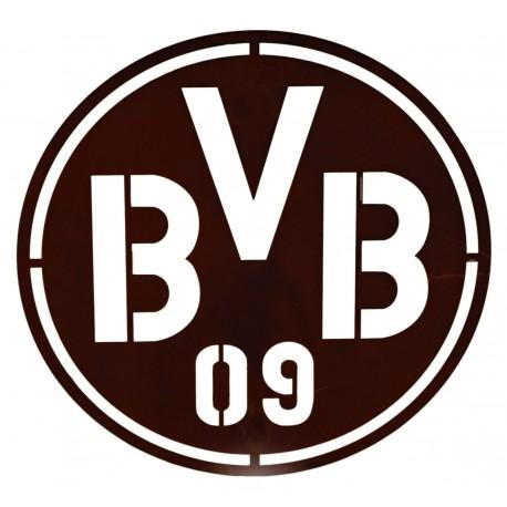 BVB Logo aus Metall im BVB Fanshop kaufen - Gartendeko BVB als Geschenkidee