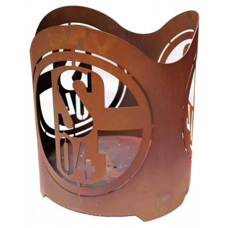 feuerkorb schalke 04 aus edelrost rund online kaufen. Black Bedroom Furniture Sets. Home Design Ideas