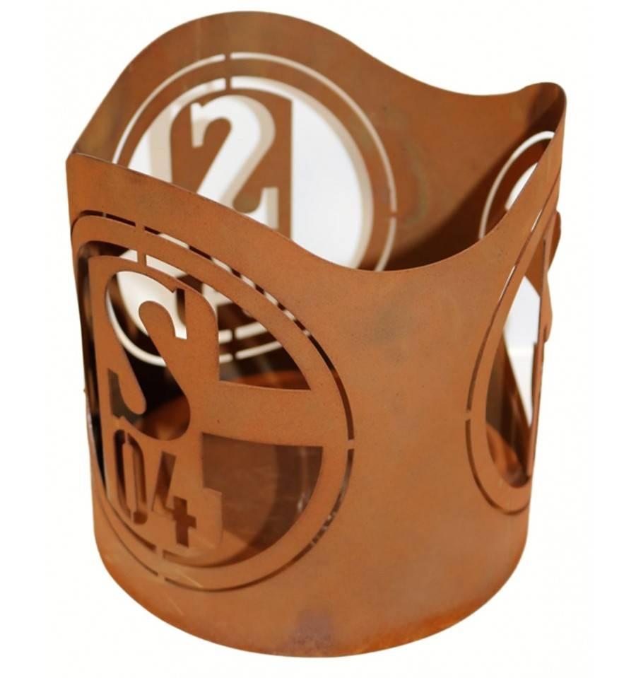edelrost windlicht mit s04 schalke logo online kaufen. Black Bedroom Furniture Sets. Home Design Ideas