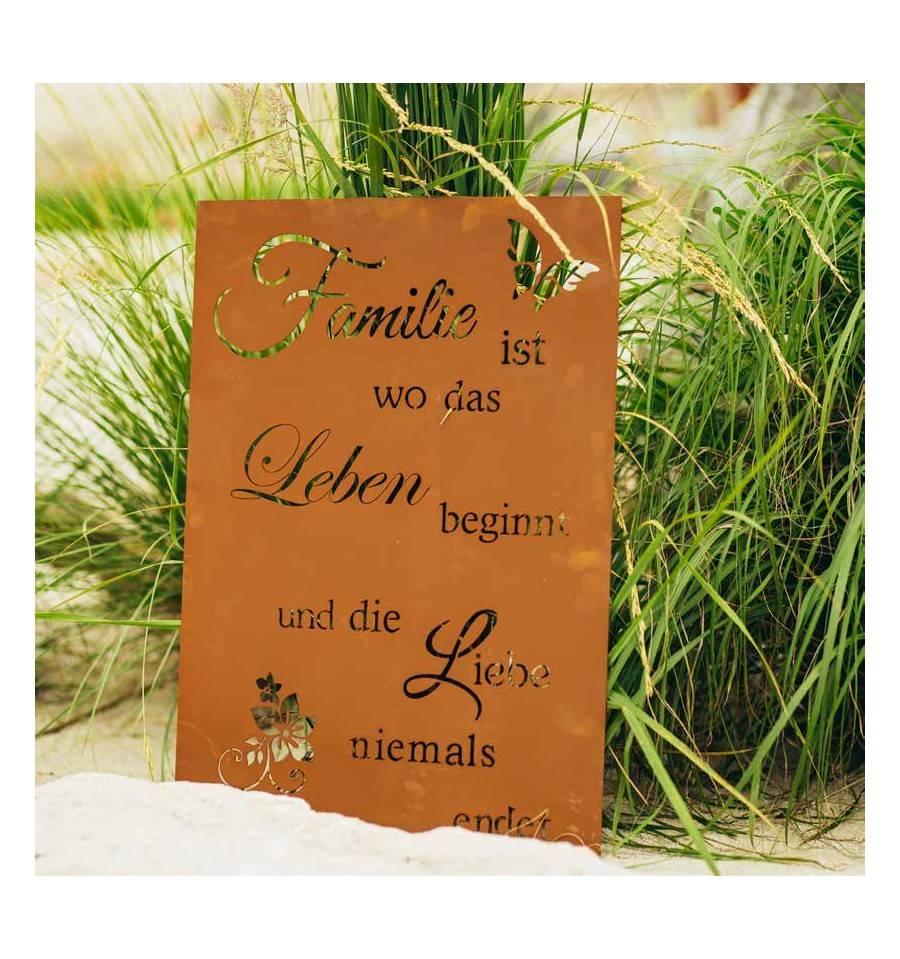 Familie Ist Wo Das Leben Beginnt Und Die Liebe Niemals Endet
