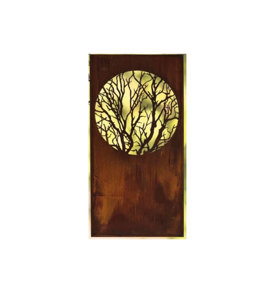sichtschutzwand metall albero mit rundem ausschnitt h he. Black Bedroom Furniture Sets. Home Design Ideas