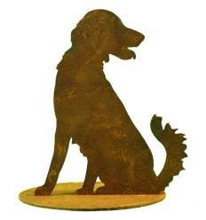 Kleiner Jagdhund auf Platte Höhe 8cm